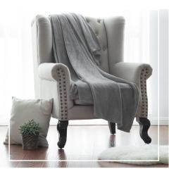 70 100cm Soft Throw Blanket Warm Coral Blankets Travel Flannel Sofa color send randomly one size
