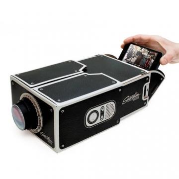 Projector Smart Phone Family Cinema DIY Portable Mini Gift black one size