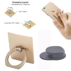 Finger Ring Stand Mobile Phone Universal 360 Rotation with Car Hook Lazy Bracket Adhesion A variety of colors one size