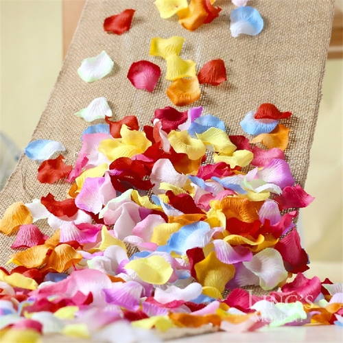 Paper Petals 100pcs/lot Silk Rose Wedding Decoration Party Supply Flower Multi-Color one size