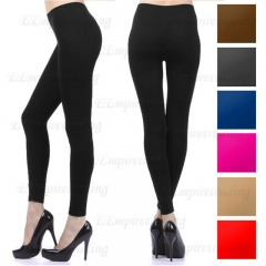 Fashion Solid Full Length Seamless Stretch Footless Stocking Long Pants Leggings beige one size