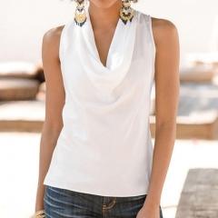 2017 Fashion Women Summer Vest Top Sleeveless Blouse Casual Tank Tops T-Shirt Blouse white s