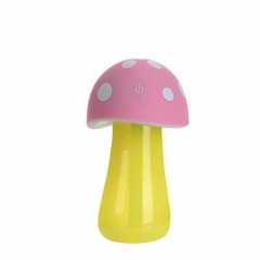 Mushroom humidifier USB charging LED small night light Clean air Aromatherapy machine pink