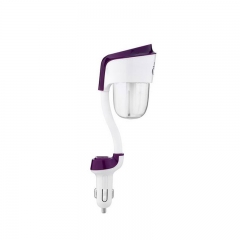 The USB car can be used as a car supplies air purifier anion aromatherapy sprayer violet