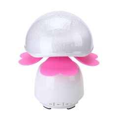 Link smart phone bluetooth stereo projection bedroom lamp to touch the night light pink