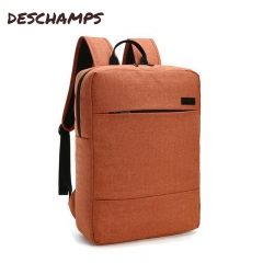 Canvas zipper male and female backpack, male business backpack, student leisure computer bag 1616 orange backpack
