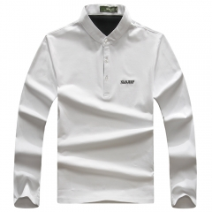 JEEP long-sleeve men's clothing, round collar size, the latest pure color T-shirt white m