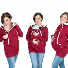 Maternity coat sizes a variety of color back baby coat good mother choice red M