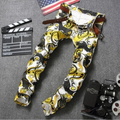 The new printed casual trousers for men with the thin trousers of stylish gentlemen the picture color 29