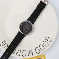 The new business black belt watch is a classic two-color watch for men and women black