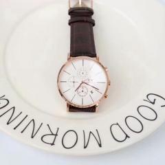 Business belt watch men and women quartz watch fashion classic two colors white