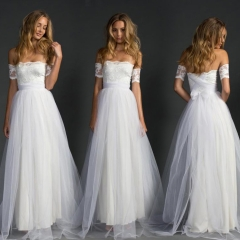 Plain coloured new wedding dress, the women's dress lace lace and lace lace dress white s