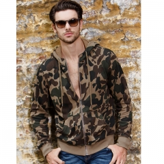 The new high-collar green men's sweater hoodie fashion tide self-cultivation jacket Army green m