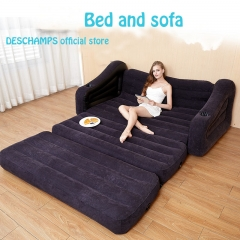 Luxury Furniture Luxury Inflatable Inflatable Sofa New Fold Up Sofabase Sofa Bed Black+Inflator pump