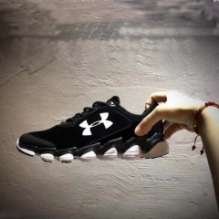 Fashionable girl's sports shoes, Paris, the new flat lace wear men's running shoes White and black 36