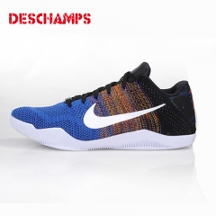 Latest boy Bryant 11 generation sports shoes men's running shoes trend basketball shoes Blue + black 40