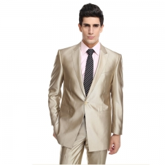 Champagne men's dress suit banquet party host costume performance dress buckle suit Champagne 44y/28