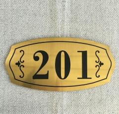 Decoration aluminum materials, golden sculpture plate, plastic plate, hotel decoration materials Gold 1