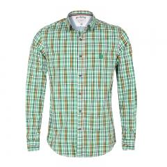 Large size men's shirt four-color cotton plaid long-sleeved business choice fashion shirt Green m