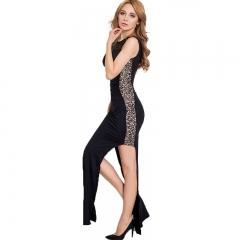 The new girl dress beads flower network sexy Slim dress skirt sexy package hip dress Black m