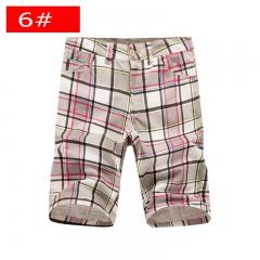 Men's new straight leg pants men's casual plaid casual pants youth fashion tide men's pants 6# 29