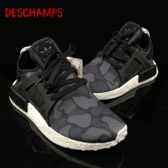 Large size hip-hop shoes NMD XR1 casual black and white camouflage running shoes spot sports shoes Gray + white 39