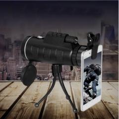 Day Night Vision 40x60 HD Optical Monocular Hunting Camping Hiking Telescope black 15*5.2*4.2