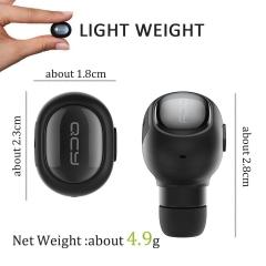 Mini Bluetooth Headphones QCY Wireless In-Ear Earphones Bluetooth Car Headset black