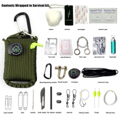 29PCS Outdoor Survival Kit First Aid Tools Camping Rescue Gear Emergency Kit black 29pcs