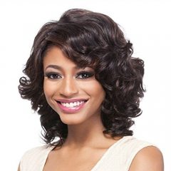 Sexy Women's  Lace Wigs Loose Wave Curly Natural  Wig Black onesize