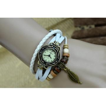 handwoven vintage watch hand-knitted vintage women's bracelet watch white