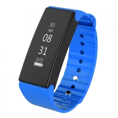 SmartBracelet Sport Pedometer with Touch Screen Camera Version Bluetooth Waterproof for Android IOS blue one size