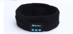 Bluetooth music sports headband listen to the wireless music headscarf yoga hair band black one size