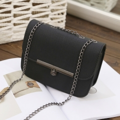 One-shouldered cross-girl package fashion ladies' one-shoulder bag black one-size