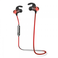 Wireless sports bluetooth headset  stereo dual-ear phone red