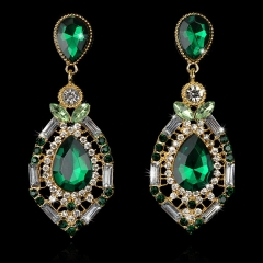 2017 Fashion jewelry drop jewel earrings green one size