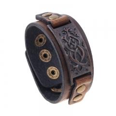 Punk Handmade Vintage Leather Bracelet Bracelet colorful one size