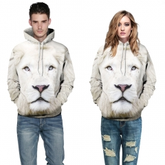 White Lion Design 3D Digital Printed Baseball Jacket Fashion  for Women and Men colorful S/M