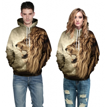 3D Digital Printed Baseball Jacket Fashion  for Women and Men Hooded fleece colorful s/m