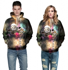 Starry sky Design 3D Digital Printed Hooded fleece  Baseball Jacket Fashion  for Women and Men colorful s/m
