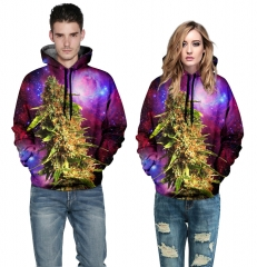 Design 3D Digital Printed Hooded fleece Jacket Fashion  for Women and Men colorful s/m