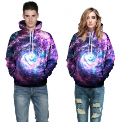 Swirl the starry sky Design 3D Digital Printed Hooded fleece  Jacket Fashion  for Women and Men colorful s/m