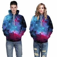 Starry sky Design 3D Digital Printed Hooded fleece  Jacket Fashion  for Women and Men hoodie colorful s/m