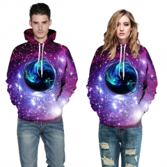 The stars spiral Design 3D Digital Printed Hooded fleece  Jacket Fashion  for Women and Men hoodie colorful s/m