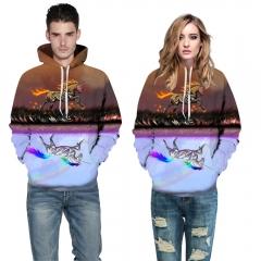 Sky horse Design 3D Digital Printed Hooded fleece  Jacket Fashion  for Women and Men hoodie colorful s/m