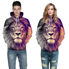 Lion Design 3D Digital Printed Hooded fleece  Jacket Fashion  for Women and Men hoodie colorful s/m