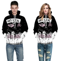Halloween vampires Design 3D Digital Printed Hooded fleece Jacket Fashion  for Women and Men hoodie colorful s/m