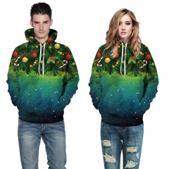 Star Christmas tree Design 3D Digital Printed Hooded fleece  Jacket Fashion  for Women and Men colorful s/m