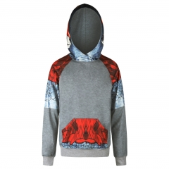 Fox pattern digital print Design 3D Digital Printed Hooded fleece Fashion for Women and Men colorful s/m