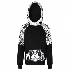 The Panda pattern digital print Design 3D Digital Printed Hooded fleece Fashion for Women and Men colorful s/m